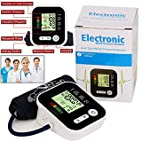 Splinktech ® Digital Upper Arm Blood Pressure Monitor BP Heart Beat Rate Pulse Meter Machine Voice Function Large Cuffs Backlight LCD Automatic 180 Memory Data Saving Smart Intelligent Technology