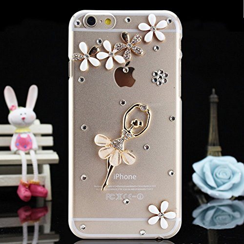 iPhone 6S Hülle,iPhone 6 Hülle,iPhone 6S Etui,EMAXELERS Transparent Hardcase for iPhone 6S Case,Hart Plastik Schutzhülle Hard Kunstoff Clear Cover Silber Schiefen Turm Schnee Sparkles Diamant Painted  Diamond PC Series 14
