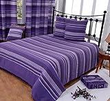 Homescapes waschbare Tagesdecke Sofaüberwurf Morocco lila 150 x 200 cm Überwurfdecke Bettüberwurf 100% reine Baumwolle