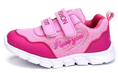 Odema Sommer Kinder Junge Mädchen-Turnschuhe Low-Top for Unisex Kids Children's Trainers Pink