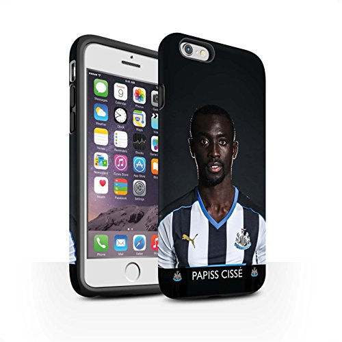 Offiziell Newcastle United FC Hülle / Matte Harten Stoßfest Case für Apple iPhone 6 / Pack 25pcs Muster / NUFC Fussballspieler 15/16 Kollektion Cissé