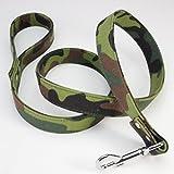 Danigrefinb Hundeleine, 120 cm, verstellbar, Camouflage-Muster, für Laufen/Wandern/Hundetraining, Traktionsgürtel