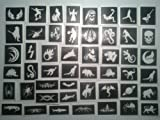 50 Jungen Tattoo Schablonen für Glitzer Tattoos / body art / Airbrush Spendenaktionen