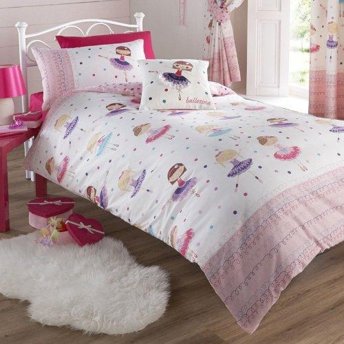 Club-cover-set (Dancing Ballerina Pink Single Duvet Cover Bedding Set by Kids Club)