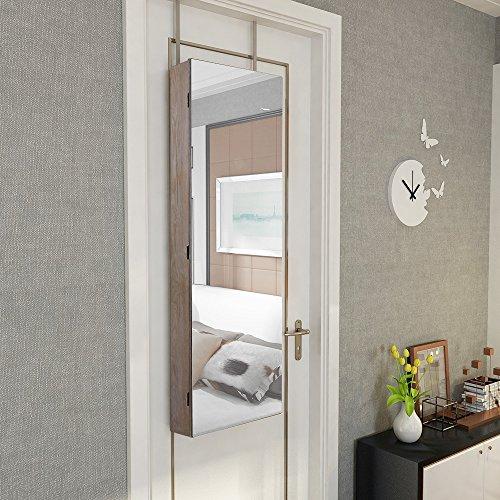 songmics led schmuckschrank extra breiter spiegel rahmenlose spiegelt r mit innenspiegel. Black Bedroom Furniture Sets. Home Design Ideas