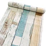 Deko Holz Panel Muster Kontakt Papier Selbstklebende Regal rutschsicher schälen und Stick Tapete für, Küche Schrank zinntheken Böden Craft Projekte 45x 199,9cm