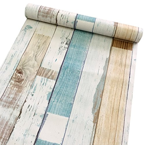 Decorative wood panel pattern contact paper self adhesive shelf liner peel and stick wallpaper per coprire armadi cucina controsoffitto ripiani progetti artistici 45 x 199,9 cm