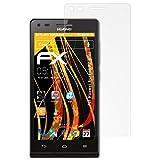 atFolix Schutzfolie für Huawei Ascend P7 mini Displayschutzfolie - 3 x FX-Antireflex blendfreie Folie