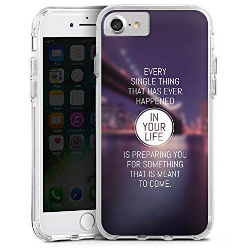 Apple iPhone 6 Bumper Hülle Bumper Case Glitzer Hülle Weisheit Vie Life Bumper Case transparent