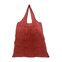 KSB Fold Up Reusable Polyester Shopper Shopping Bag Carrier Bag - 4 Colours (Red)