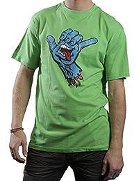 Herren T-Shirt SANTA CRUZ - Shaka Hand - Grass Green - SCTSSH