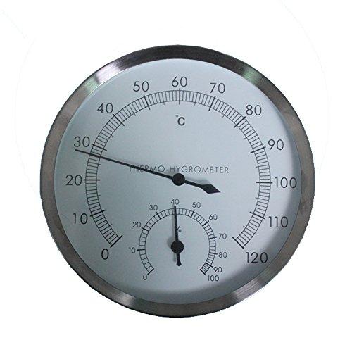 12,7cm Edelstahl Sauna Raum hyprometer Thermometer-Hygrometer Wandmontage