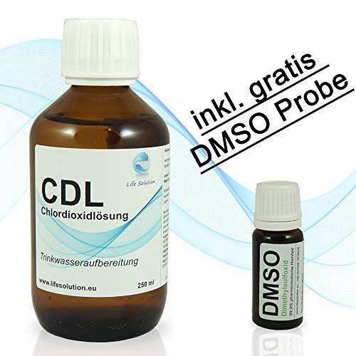 CDL / CDS Chlordioxidlösung 0,3% - 250 ml - Hergestellt im aufwendigen Destillationsverfahren - inkl. Tropfeinsatz, Messbecher und Anleitung