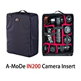 A-mode Camera Luggage insert DSLR Large Capacity waterproof shockproof partition padded Mirrorless Camera,case for 1D D5 DJI IN200
