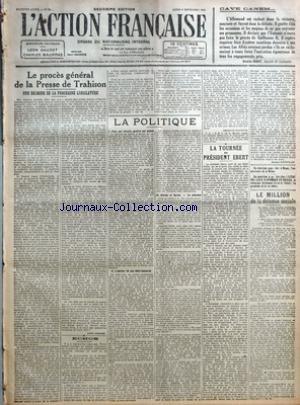 ACTION FRANCAISE (L') [No 251] du 08/09/1919 -...