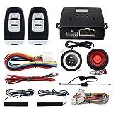Roll code Smart PKE Passiv Schlüsselloser Zugang Auto Alarm System mit Druck Start Fernbedienung Motor Start Automatisch Eige