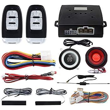 NEW 4 Pcs Car Security System Alarm Start Passive Keyless Entry Push Button