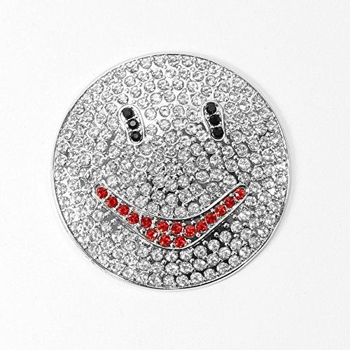 Smily Magnet Brosche mit Strass Rund Ponchohalter Schalhalter