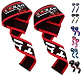 EMRAH - Cinghie per sollevamento pesi, polsiere per rafforzare allenamento fitness cinghie, Red / Black