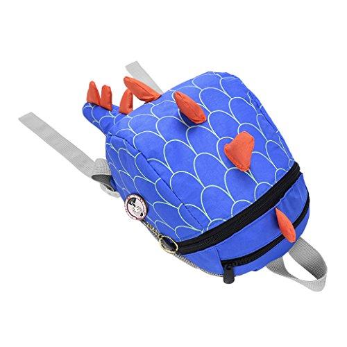 Kinder Rucksäcke Cartoon Schultasche Kleinkind Kindergartentasche Schulranzen Wandern Reise Babyrucksack für 1-4 Jahre Alt Kinder Blau