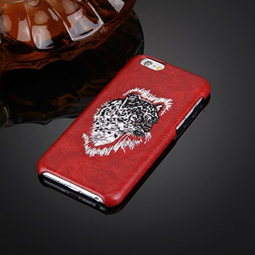 Phone case & Hülle Für iPhone 6 Plus / 6s Plus, Öl Haut Textur Stickerei Leopard Muster PU Paste Haut PC Schutzhülle ( SKU : IP6P7801C ) IP6P7801A
