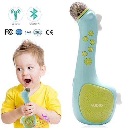 Mikrofon für Kinder, Wireless Mitsingen Mikrofon, Termichy Tragbares Karaoke Zuhause KTV mit Lautsprecher zum Abspielen und Mitsingen von Musik (Blau)