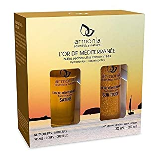 Pack Duo Oils Dry Armonia Or of Mediterranean 2X30ml Effect Satin+ effect Sun Touch