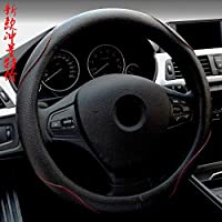Mike Wodehous Steering Wheel Cover, with Microfiber for Car SUV Four Seasons GM (Color : Black)