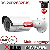 Multi-lingua risoluzione Telecamera Bullet DS-2CD2632F-IS 3MP Full HD Vari-focale IR