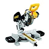DEWALT DCS365N-XJ 18 V 184 mm Cordless Mitre Saw-Yellow, 590 W, Bare Unit