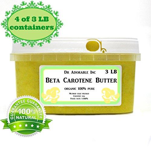 Beta Carotene Butter Cold Pressed Pure & Organic 12 LB