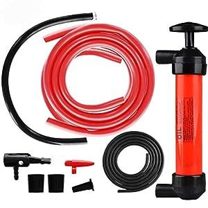 TONGXU Kit de Bomba Extractora de Aceite Bomba Manual de Coche para Inflar Extraer Gasolina Líquido Aceite Diésel Agua…