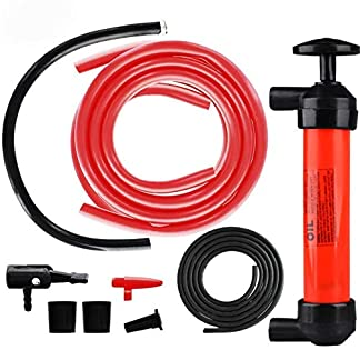 TONGXU Kit de Bomba Extractora de Aceite Bomba Manual de Coche para Inflar Extraer Gasolina Líquido Aceite Diésel Agua Máquina de Césped Desbrozadora Cortasetos Pelotas Neumáticos