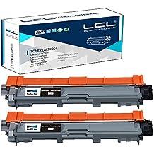 LCL(TM) TN241 TN241BK (2-Pack Noir) Cartouche de Toner Compatible pour Brother HL-3140 CW/3150CDW/CDN/3170 CDW/DCP 9020 CDW/CDN/MFC 9130 CW/9140 CDN/9330 CDW/9340 CDW