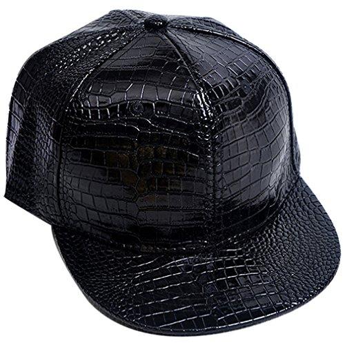 Belsen Damen Winter Vintage Serpentin Baseball Cap Leder Trucker Hat (schwarz) (Damen Schwarze Leder-baseball-cap)