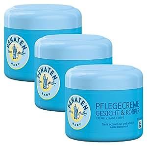 Penaten Pflegecreme Gesicht & Körper 100ml/Feuchtigkeitsspendende Creme für die tägliche Pflege empfindlicher Babyhaut (3 x 100ml)
