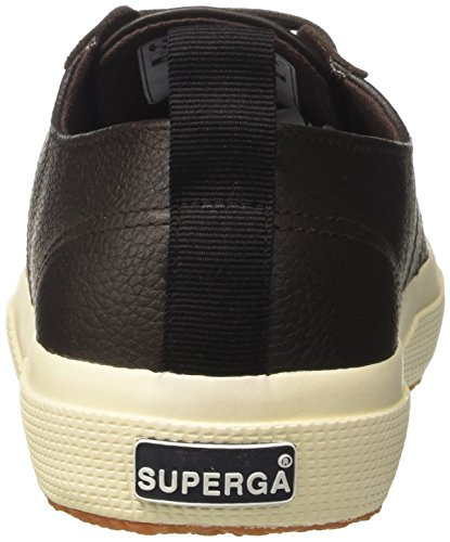 Superga 2750-fglu, Pompes à plateforme plate mixte adulte Marrone (Brown Dk Chocolate)