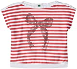 #9: United Colors of Benetton Baby Girls' T-Shirt (15P3096C11CMG9010Y_White and Red_0Y)