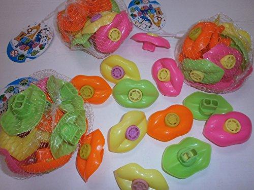 12 x Bunte Sirenen Lippen Heuler Mitgebsel Party Kindergeburtstag -