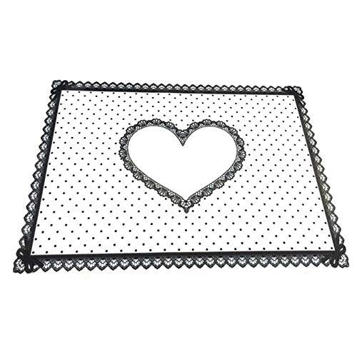Tappetino antiscivolo per unghie, in silicone, da tavolo, con disegno di pizzo stampato, per smalto gel con fissaggio a luce UV, tappetino da nail art lavabile e pieghevole