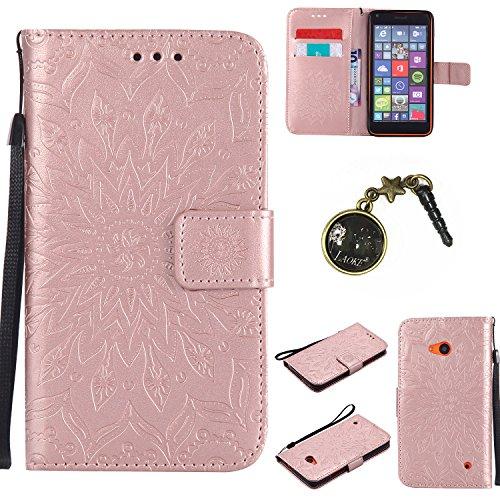 Preisvergleich Produktbild PU Silikon Schutzhülle Handyhülle Painted pc case cover hülle Handy-Fall-Haut Shell Abdeckungen für Nokia lumia 640 / N640 +Staubstecker (1GG)
