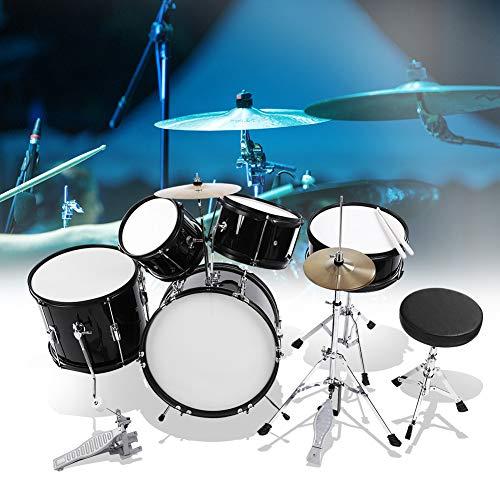 5-Teile Junior Schlagzeug-Satz kinder, 5 Stück Junior Kinder Drum Kit Hocker Drumsticks Pedal Anfänger Set mit Hocker und Sticks