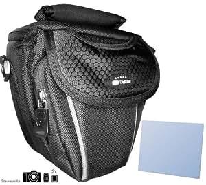 Stylische und funktionelle Colttasche für Panasonic Lumix DMC-FZ200 - sicherer Halt und schnelle Bereitschaft - Handgriff und Schultertragegurt - Zusatzfächer für Akkus Speicherkarten etc. - Perfekt für Ihre Bridgekamera Systemkamera