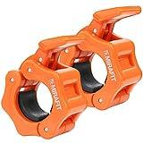 Mirafit Paire de Colliers Stop-Disque Crampon Pour Haltère Standard 25mm – Orange