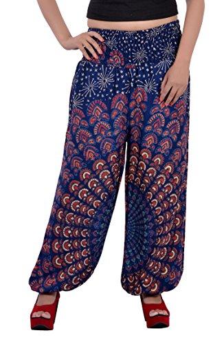Indi Bargain Rayon Mandala Harem trouser (314NBlue)