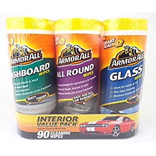 Armor All Wipes Value Pack 90 Wipes - Dashboard - Glass & All Round Wipes