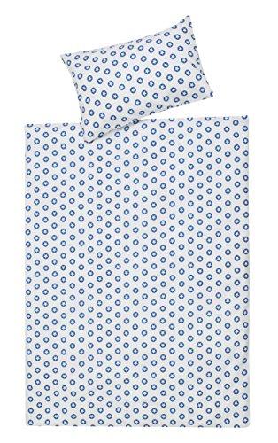 Schardt 13 609 1/761 2-teilige Kinderbettwäsche Circle Star, blau
