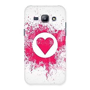 Stylish Splash Heart Back Case Cover for Galaxy J1