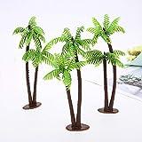 SparY Lot de 5 Mini Sapin de Coco Miniatures en Plastique pour Aquarium, 5 pcs
