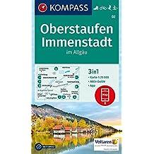 Oberstaufen, Immenstadt im Allgäu: 3in1 Wanderkarte 1:25000 mit Aktiv Guide inklusive Karte zur offline Verwendung in der KOMPASS-App. Fahrradfahren. ... Langlaufen. (KOMPASS-Wanderkarten, Band 2)
